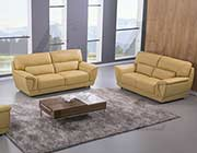 Yellow Leather Sofa set AE 99