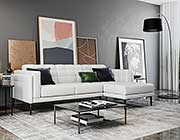 Murray 440 White Leather sofa by Moroni