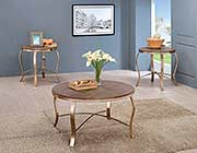 Rustic Oak Finish Coffee table Set FA 364