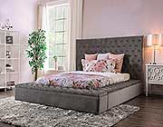 Modern Fabric Bed with Bench FA Davina