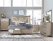 Modern Bed in Champagne Finish HE 522