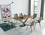 Golden Marble Top Dining Table EF 311