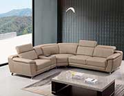 Leather Sectional Sofa in Tan AE 535