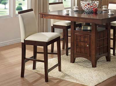 Ordinaire Counter Height Wood Top Parson Chair