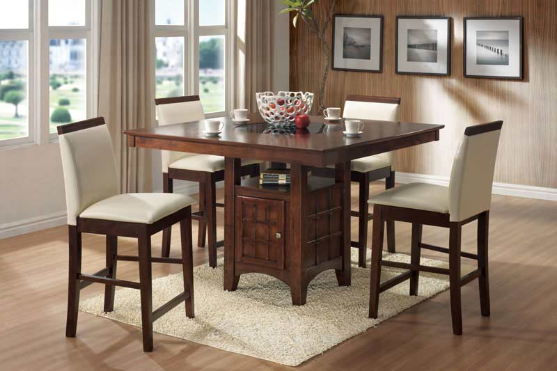 Counter Height Wood Top Parson Chair