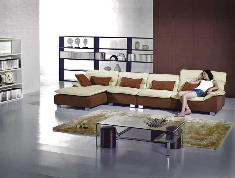 modern microfiber sectional chaise sofa