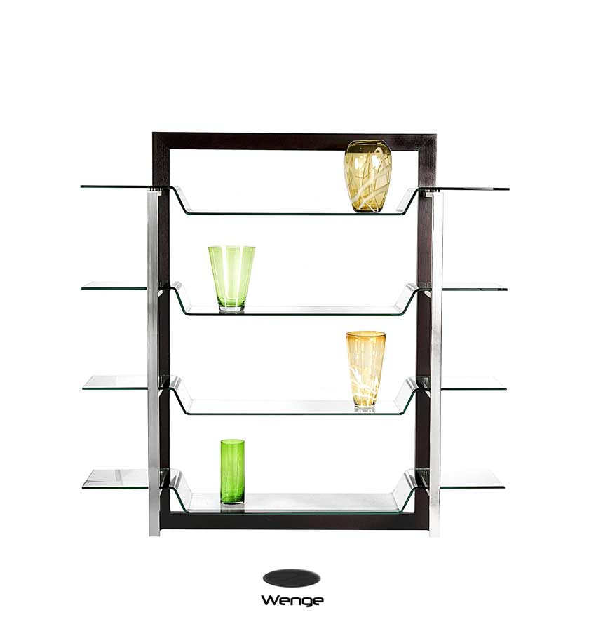 Contemporary style display unit bl 0505 office bookcases for Contemporary display shelves