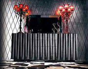 EVG-622 Black Buffet with Crocodile Texture