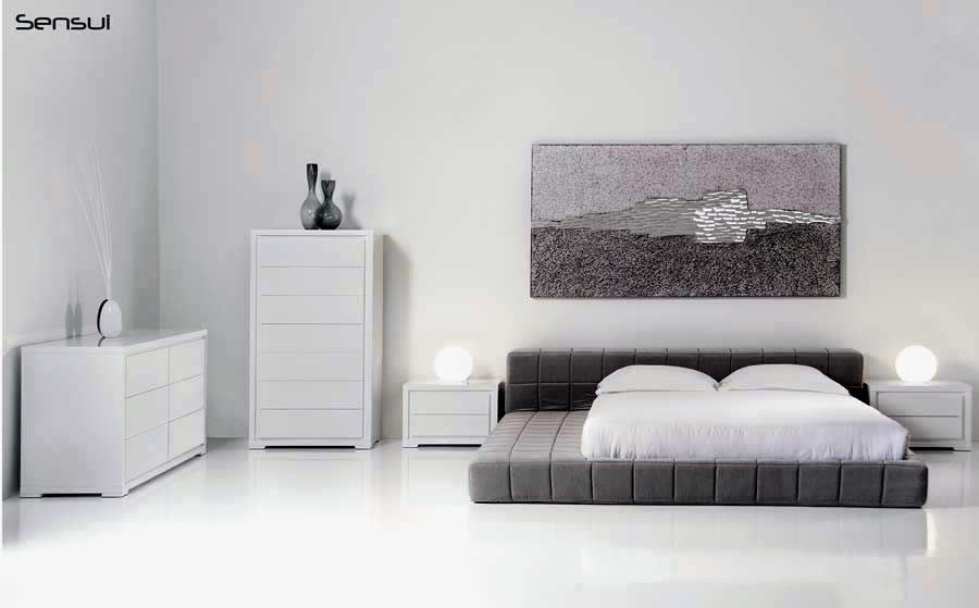 Mb sensui platform bed ultra comfort contemporary bedroom for Ultra contemporary bedroom furniture