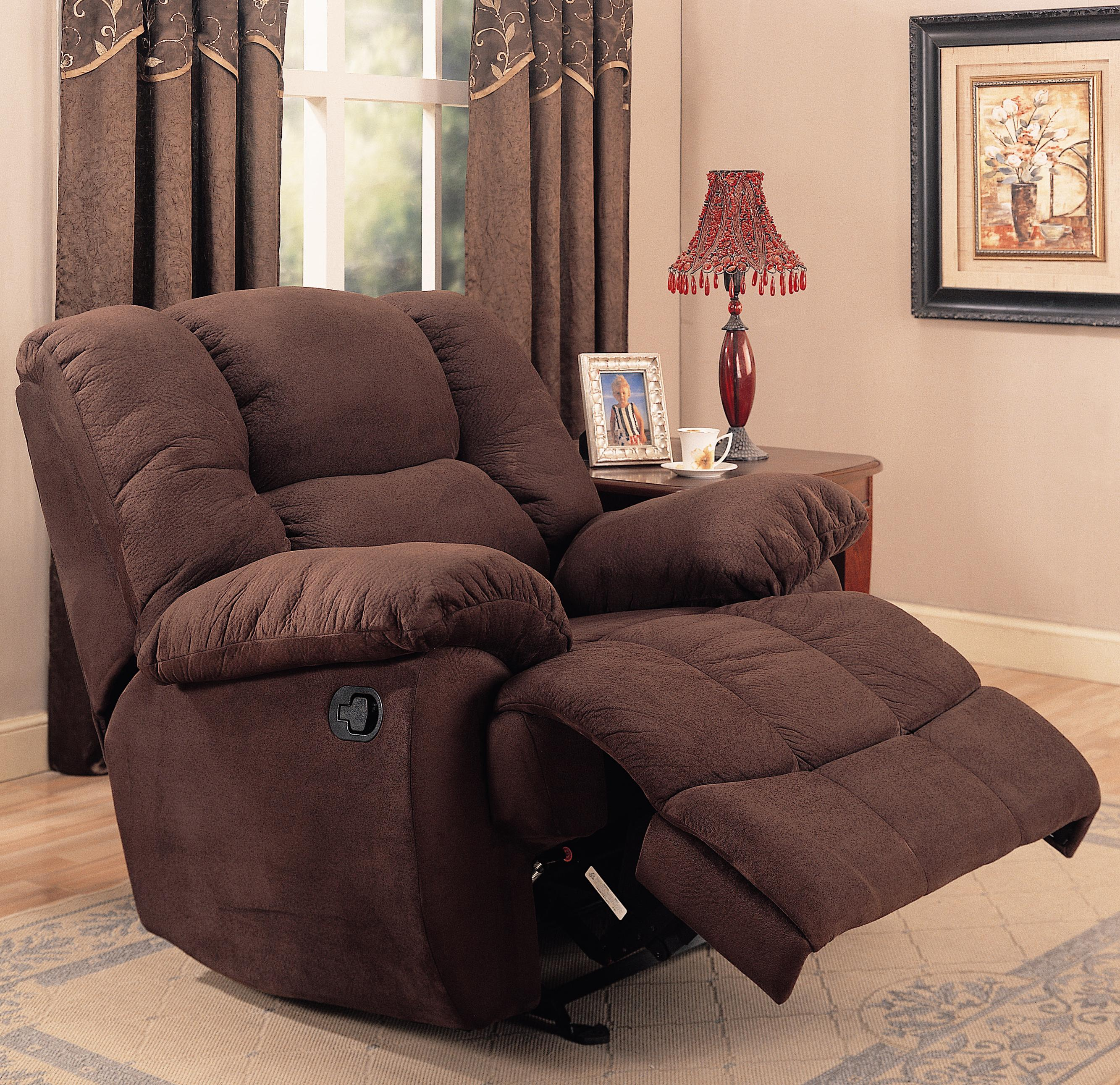 Rocker Recliner In Chocolate Microfiber Co 259 Recliners