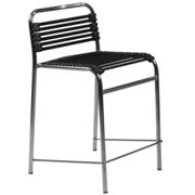 Bungie Flat Counter Stool-Black-Chrome