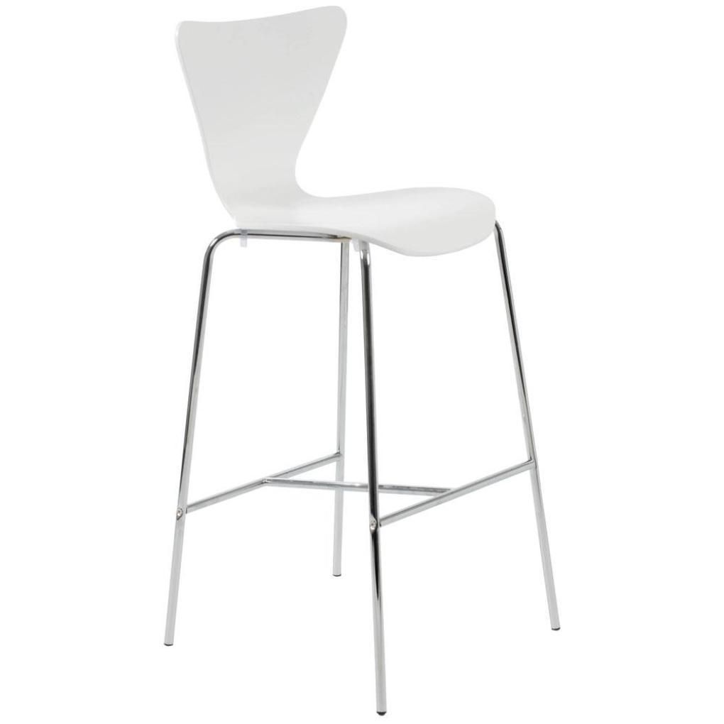 Tessa Bar Chair White-Chrome