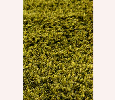 Skylight Handwoven Shaggy Rug in Green MO-756