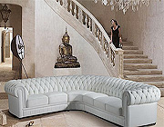 HT01 Glamour Leather Sectional Sofa