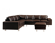 Poeta Leather Sectional Sofa M-07