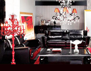 Sofa Set Leather Black VG021