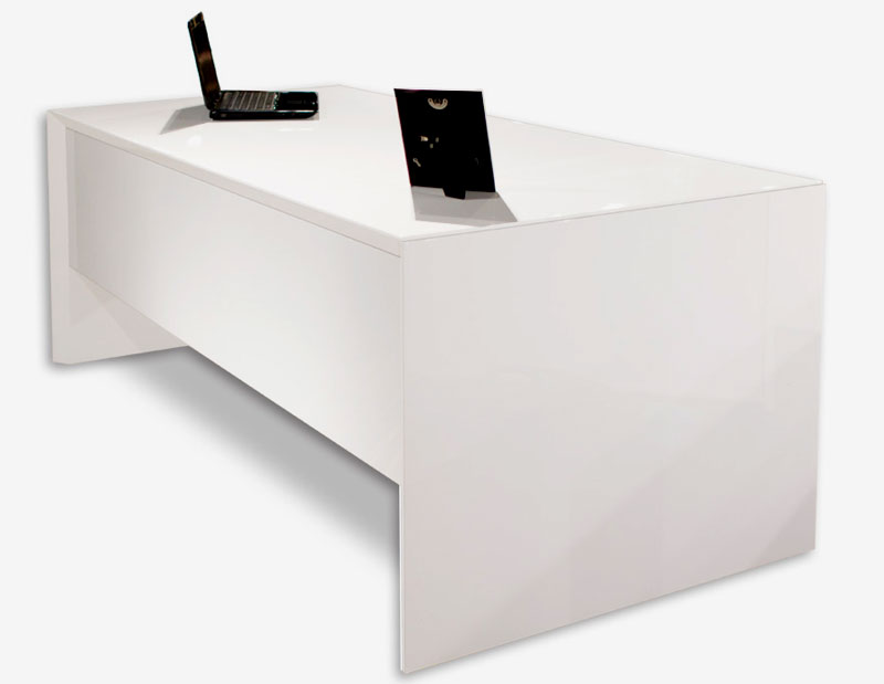 Sh03 White Lacquer Desk | Executive