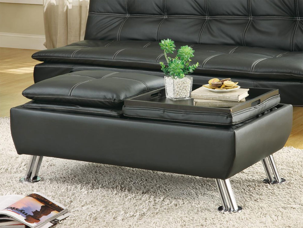 ... Black leatherette Sofa Bed Collection CO91B ...