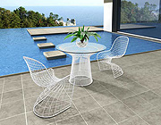 Z 024 Tempered Glass White Dining Table