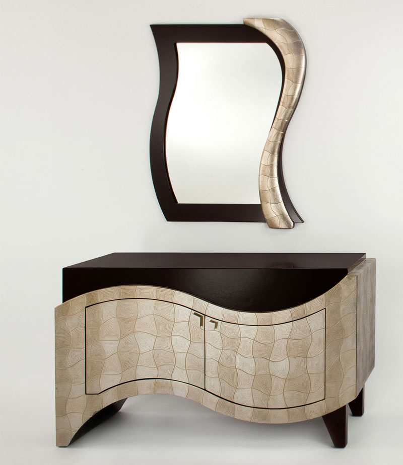 Entry cabinet ar396 hallway for Furniture and mirror