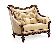 BT 068 Italian Cream Accent Chair in Cherry Finish