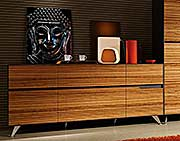 Zebrano Wood Credenza by Unique Furniture