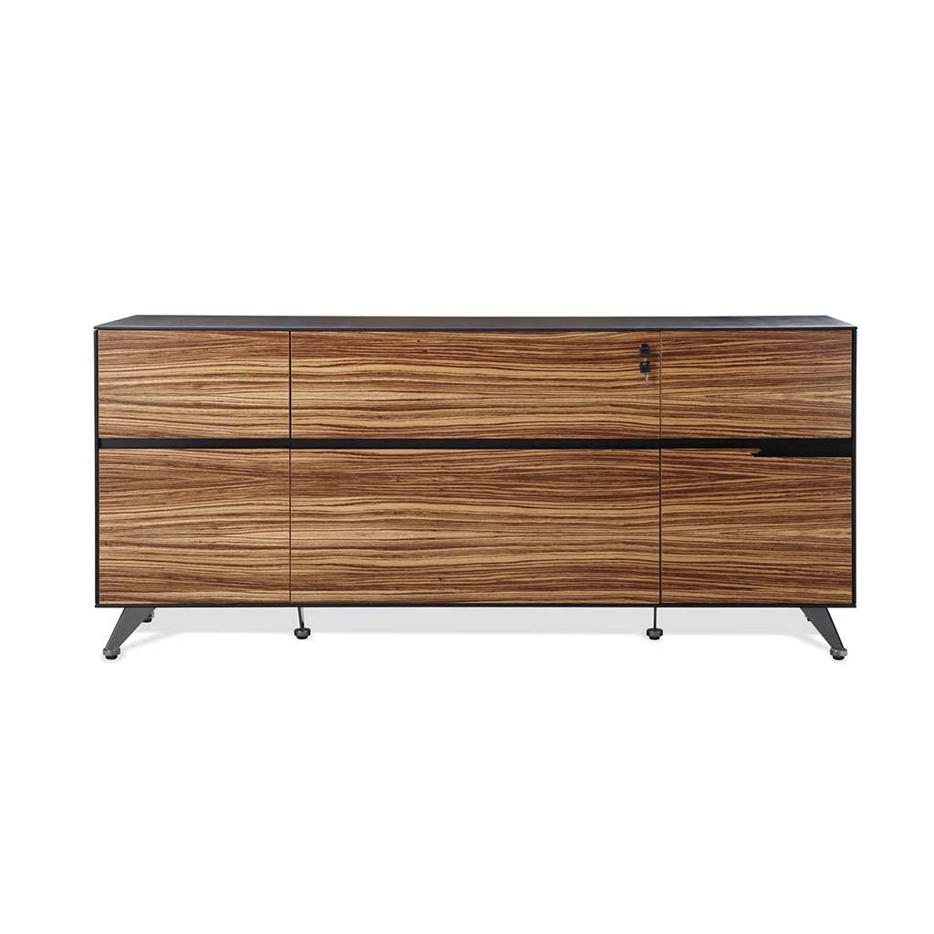 Furniture Unique: Zebrano Wood Credenza By Unique Furniture