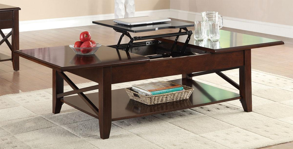 The Davis Rectangular Coffee Table with LiftTop Mechanism Coffee