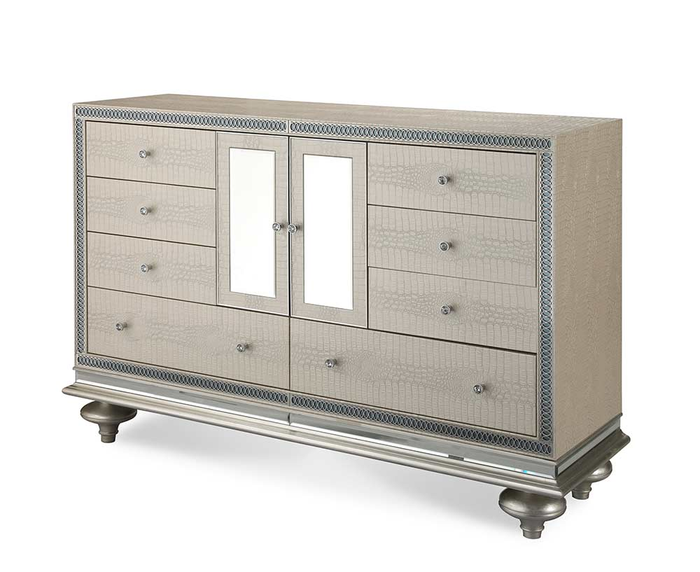 Hollywood Swank Pearl Dresser By Aico Aico Bedroom Furniture