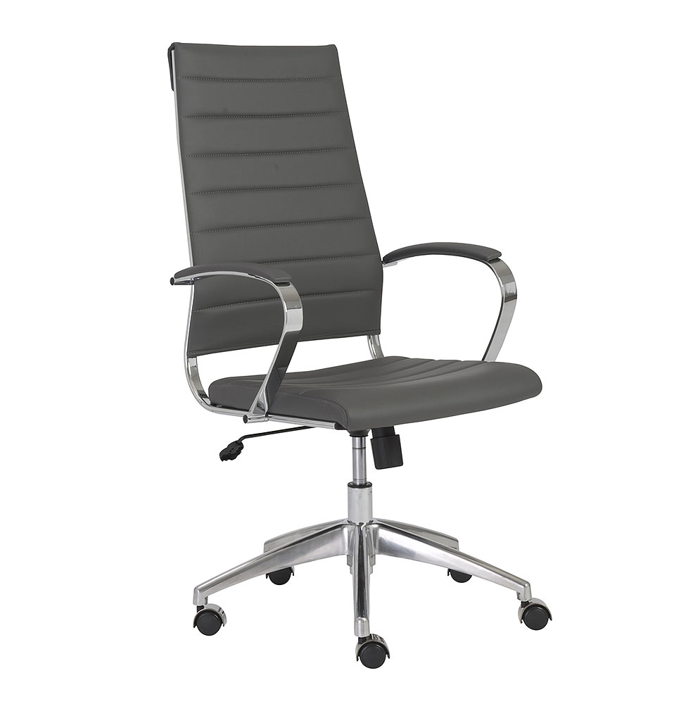 Axel High Back Office Chair In Grey Office Chairs - Grey office chair