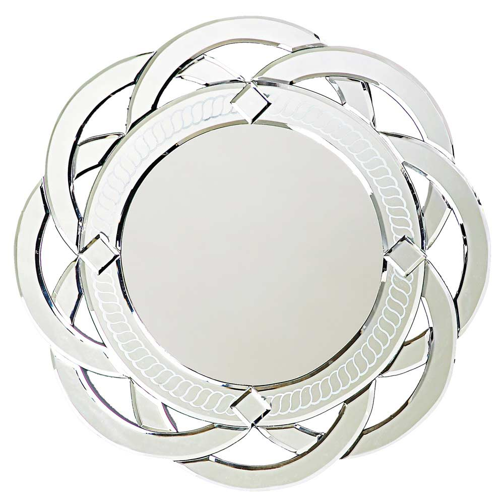 Contemporary Designer Mirror Round Twist Hre 008 Accent: modern round mirror