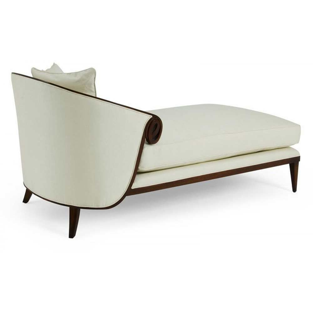 Gigli accent chaise by christopher guy christopher guy for Chaise demi lune