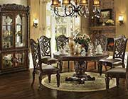 Traditional Round Dining Table Allesia AC 020