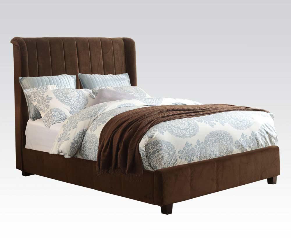 Brown Velvet Bed Bay Area AC 770