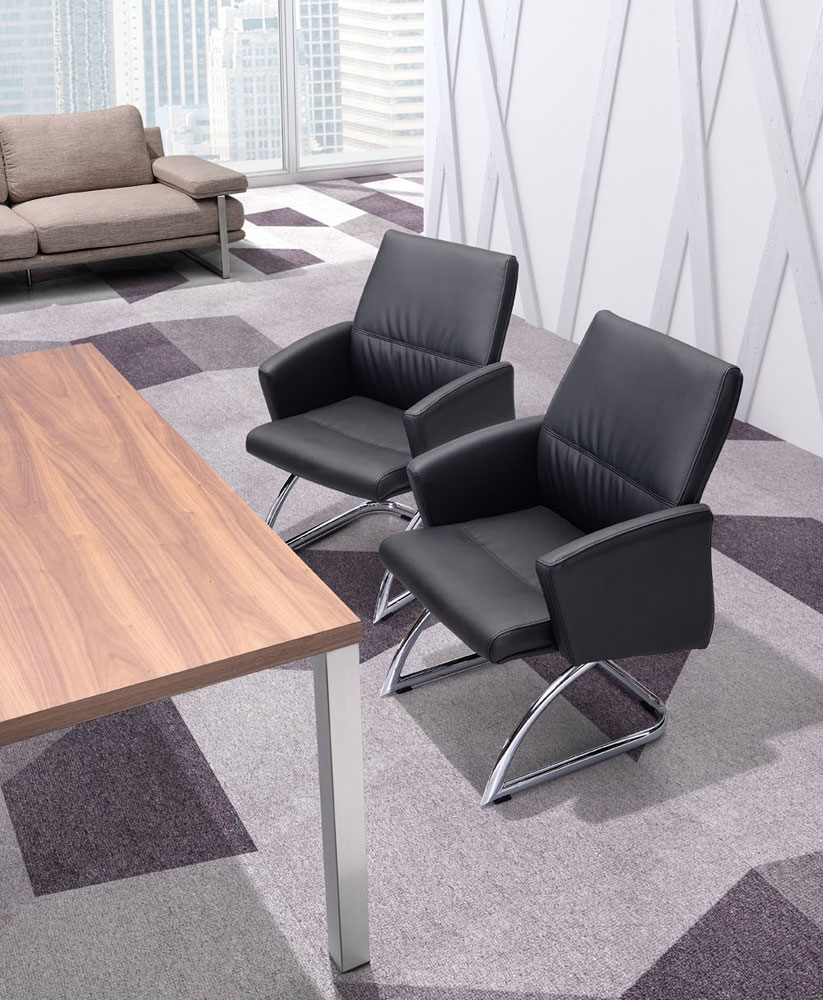 Modern white conference chair z 091 office chairs for Conference room chairs modern