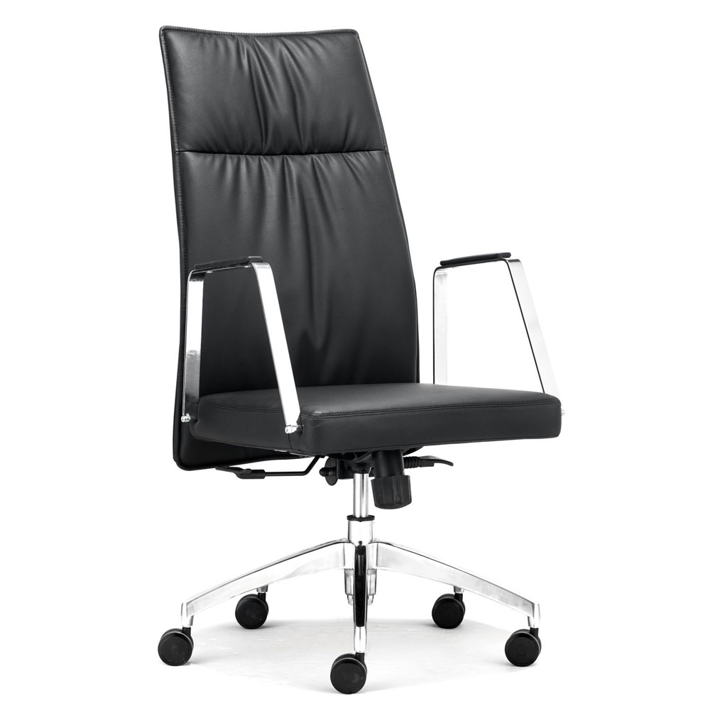 High Back Black Office chair Z-130 | Office Chairs Black Office Chair Back View