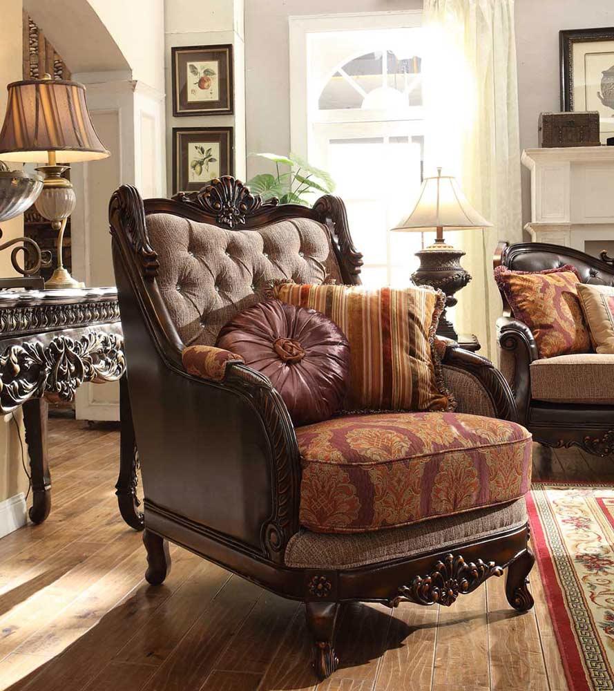 Traditional chenille fabric sofa hd 1363 traditional sofas for Traditional sofas
