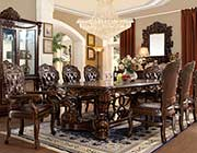 Traditional Dining Table in Dark Finish HD6008
