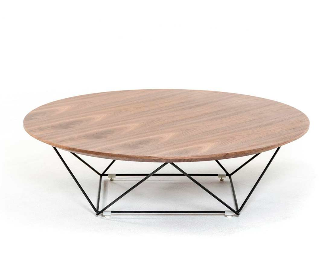 Modern Walnut Coffee Table Vg115 Contemporary