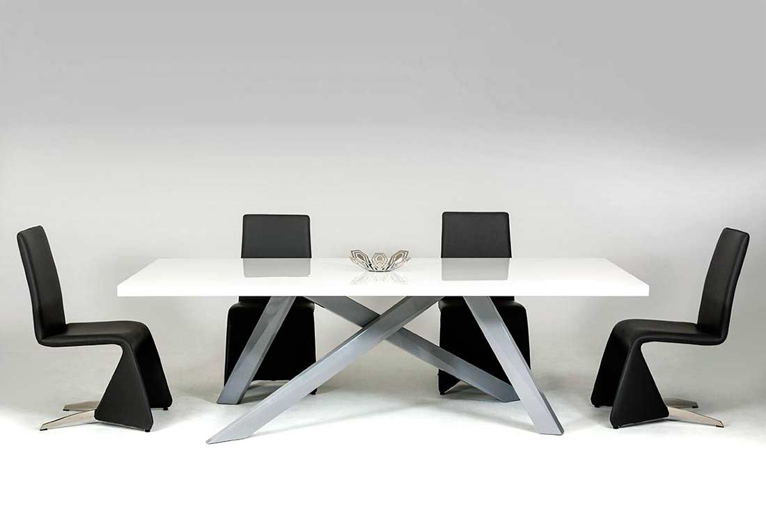 Dining table criss crossed legs vg108 modern dining dining table criss crossed legs vg108 watchthetrailerfo