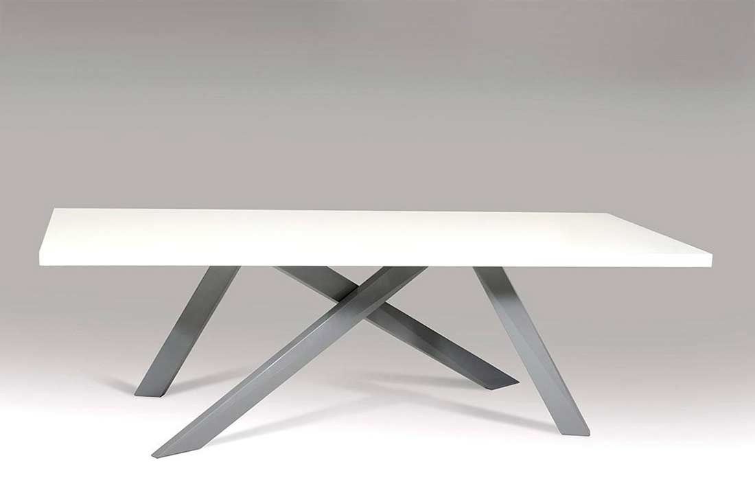 Dining table criss crossed legs vg108 modern dining for Cross leg table plans