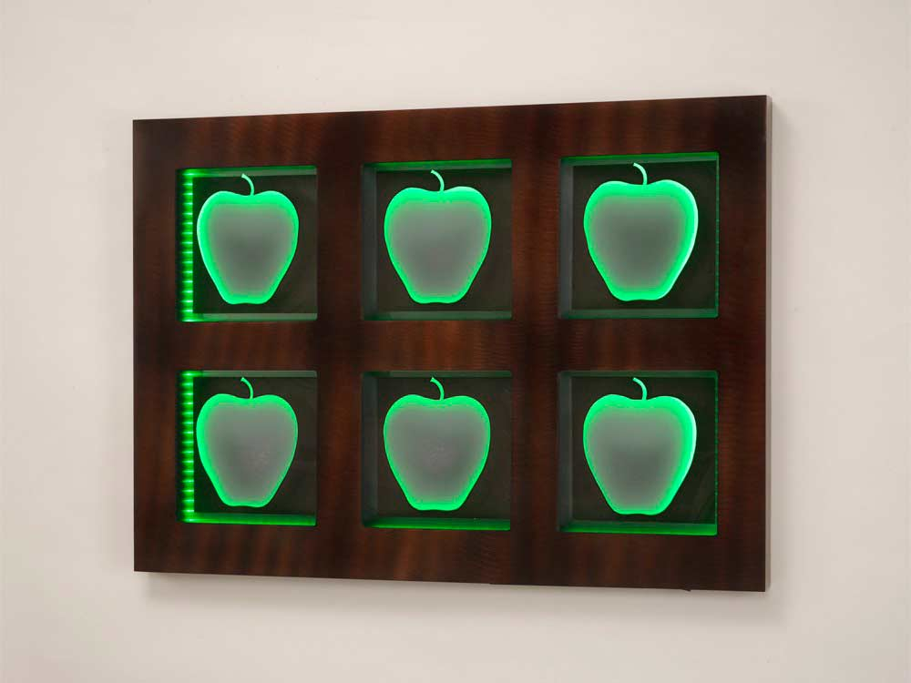 Contemporary Wall art with Led Bulbs NL239   Design Accessories