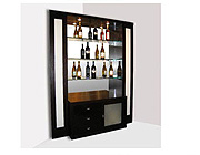 Elite Glass Corner-Bar Wenge