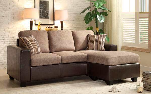 Beige sofa with reversible chaise he401 fabric sectional for Beige sofa with chaise