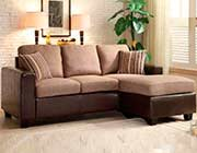 Beige Sofa with Reversible Chaise HE401