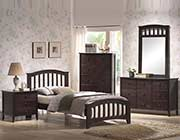 Dark Walnut Bed collection San Remo AC35