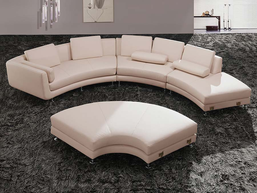 modern round leather sectional sofa a94 leather sectionals. Black Bedroom Furniture Sets. Home Design Ideas