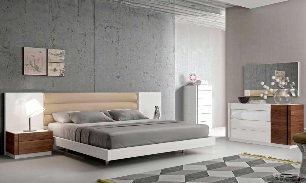Contemporary White Lacquer Bed Sj871 Contemporary Bedroom