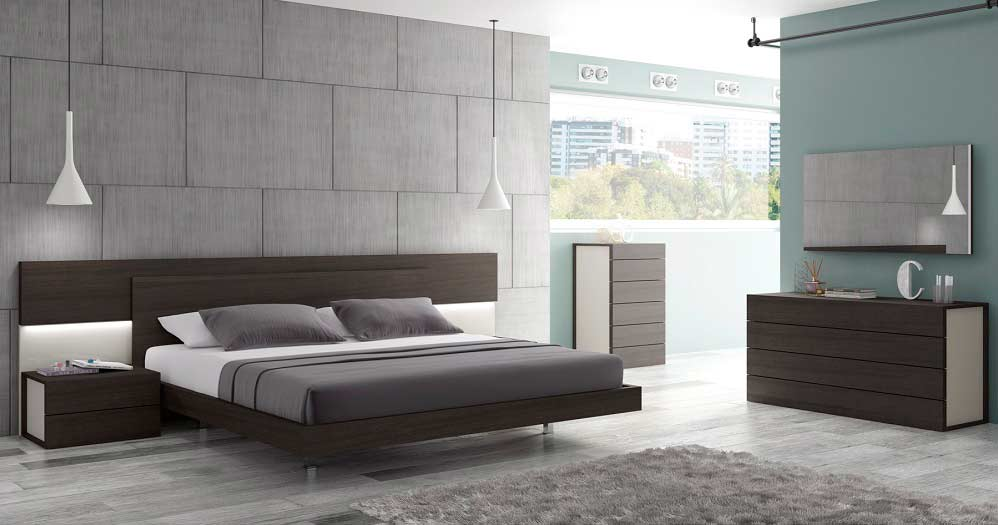 outstanding modern contemporary bedroom furniture | Wenge and Grey lacquer Modern Bed SJ Matia | Contemporary ...