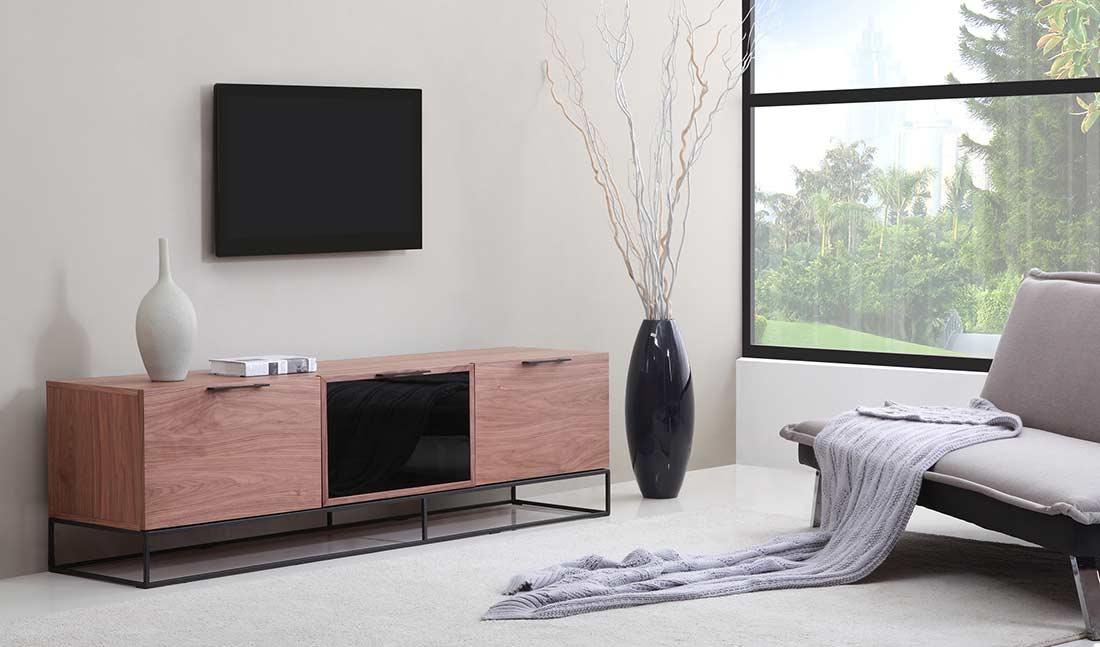 Modern Walnut Black Tv Stand Bm35 Tv Stands